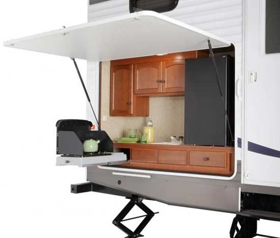 Outdoor Kitchenthis Is Just Like My Outdoor Kitchen  Camping Pleasing Travel Trailer With Outdoor Kitchen Design Decoration