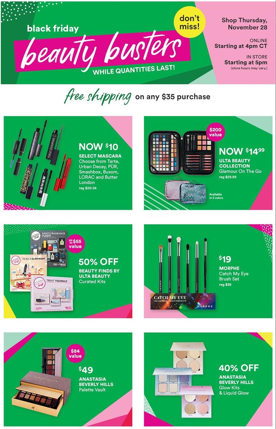 Ulta Beauty Black Friday Ad Scan Deals And Sales 2019 Ulta Beauty Ulta Black Friday Ads