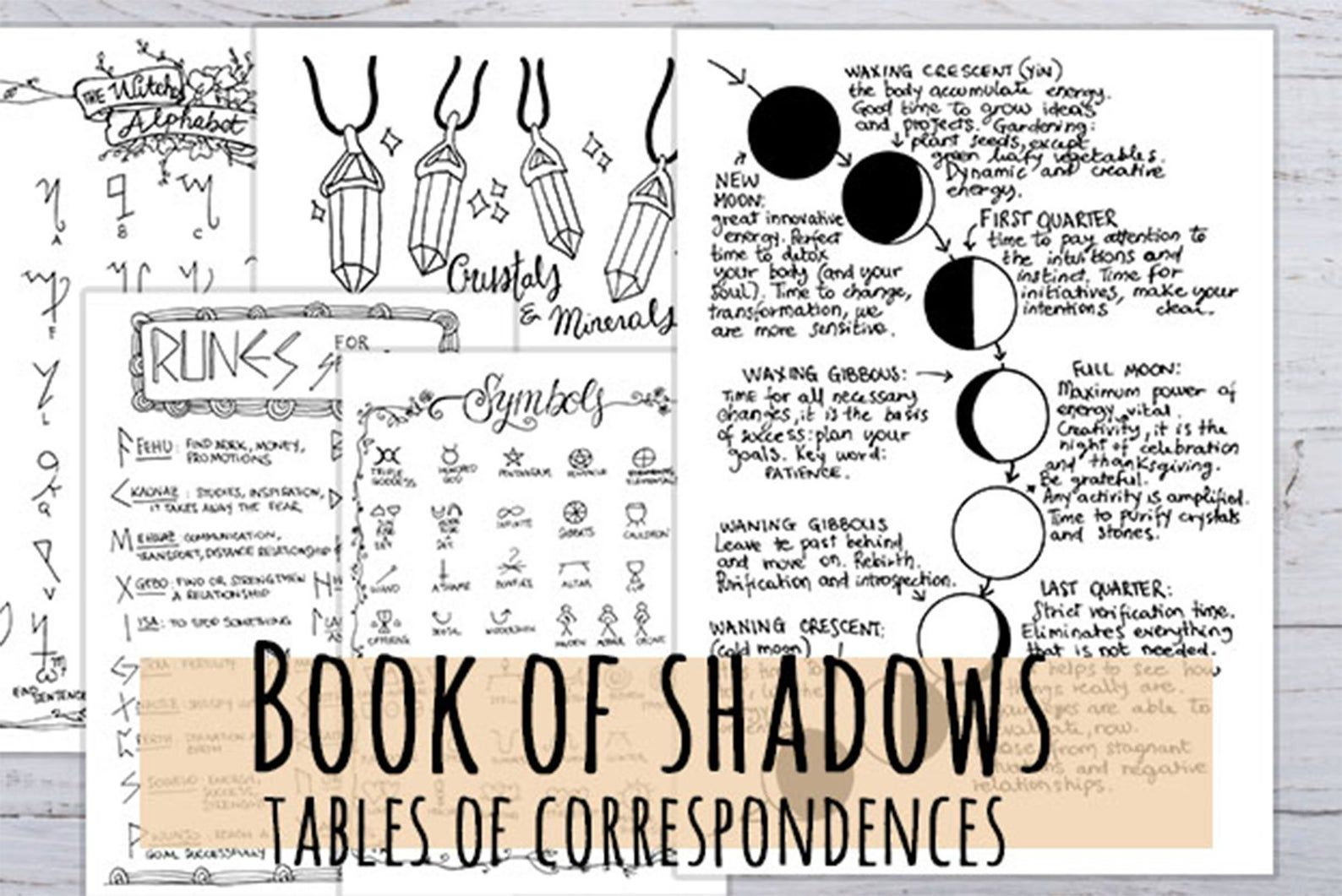 Book Of Shadows Tables Of Correspondences For Magical Rituals Etsy Book Of Shadows Wiccan Spell Book How To Draw Hands