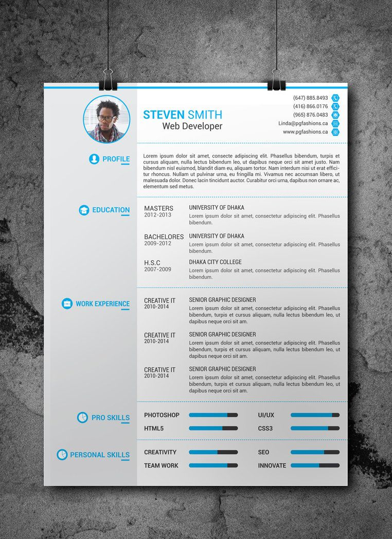 Resume/CV Template (Free Download) by Arahimdesign