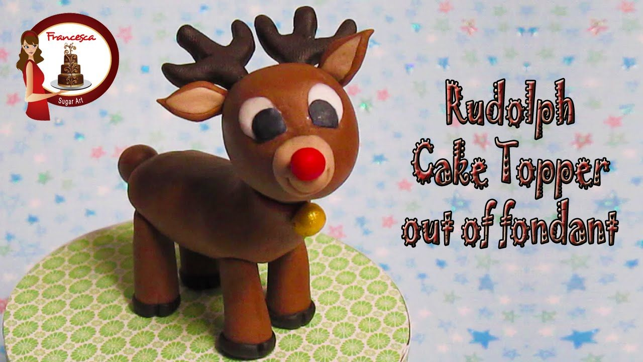 How to make a father christmas cake decoration - How To Make Rudolph The Reindeer Out Of Fondant Cake Topper