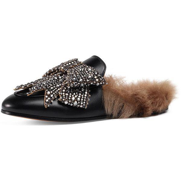 de89bcb6d5b3 Gucci Princetown Bow Fur-Lined Mule (7