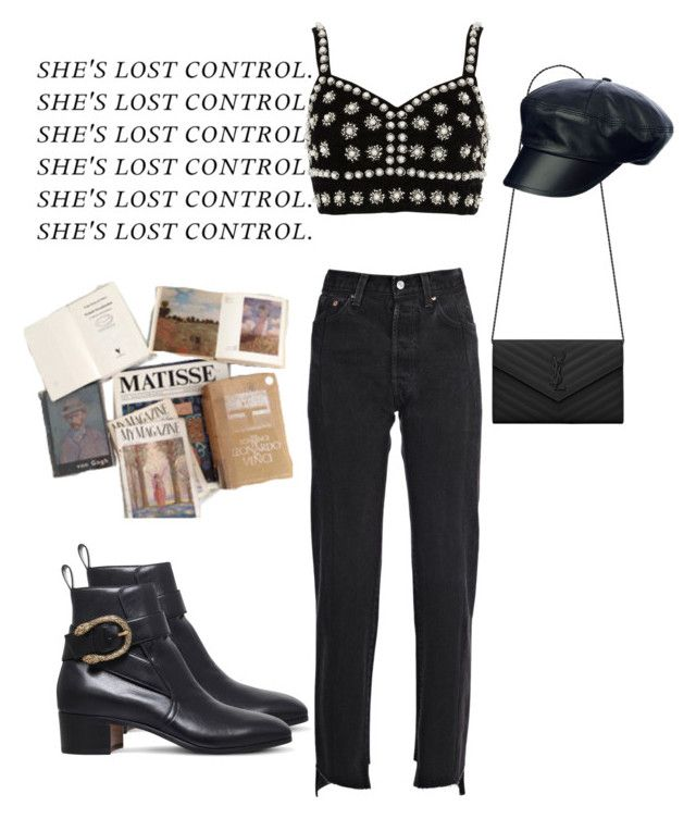 """Untitled #58"" by mariamjibladze ❤ liked on Polyvore featuring ...Lost, River Island, Vetements, Gucci and Yves Saint Laurent"