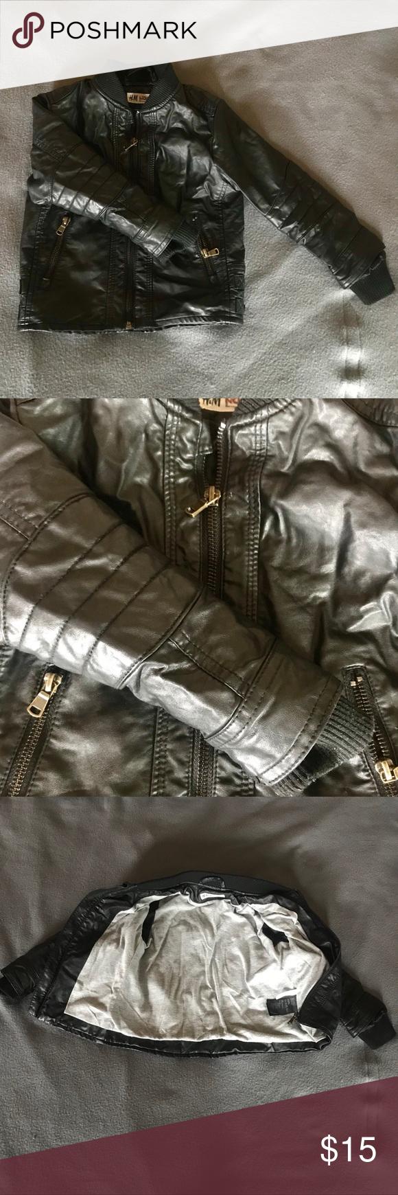 Toddler Boy Leather Jacket Sz 3 4 Boys Leather Jacket Leather Jacket Leather [ 1740 x 580 Pixel ]