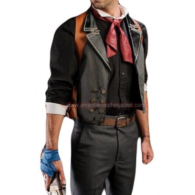Bioshock Infinite Nitro Vest | Booker DeWitt Vest and Holster in Leather  sc 1 st  Pinterest & Bioshock Infinite Nitro Vest | Booker DeWitt Vest and Holster in ...