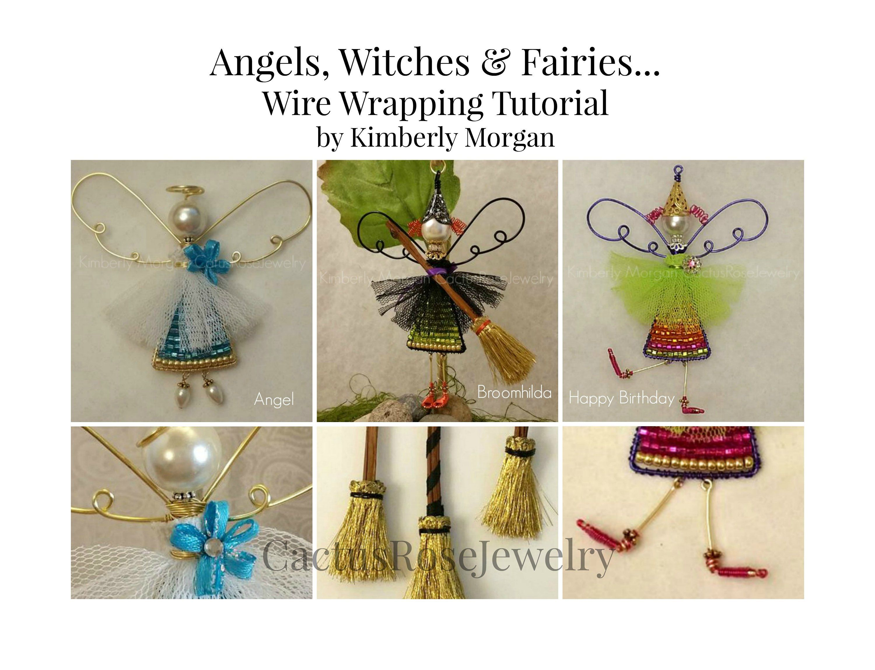 Angels Witches And Fairies Wire Wrapping Tutorial Instant Etsy In 2021 Wire Ornaments Diy Crafts Jewelry Holiday Beading