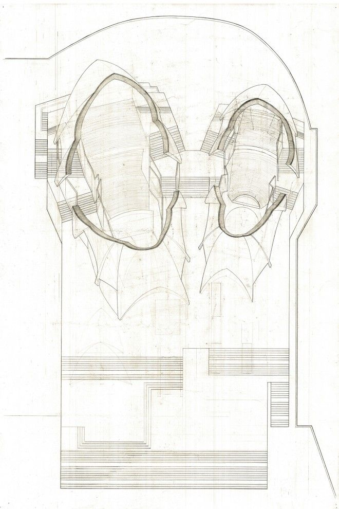 Sarah Hadianti\'s Plan Oblique Drawing of the Sydney Opera House ...
