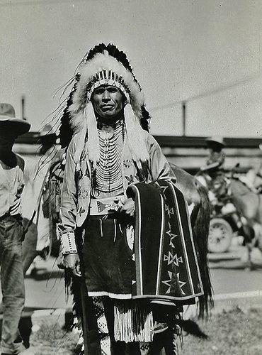 Daniel Simmons (aka Chief Yowlachie) in Albuquerque, New Mexico - Yakima - 1937