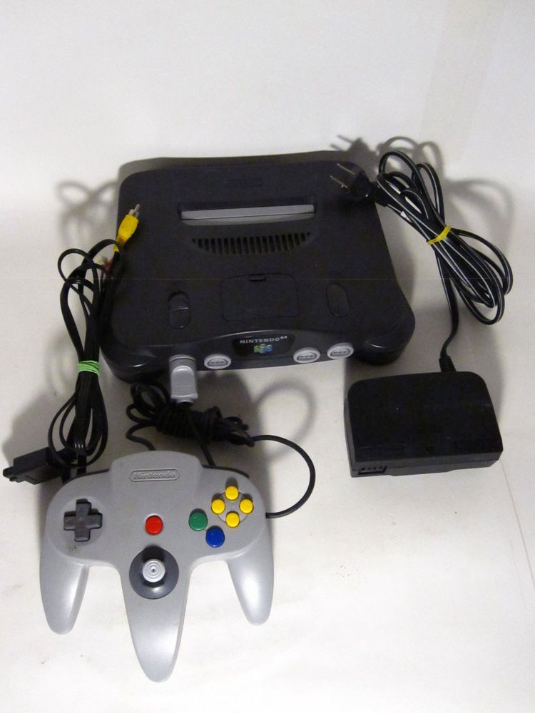nintendo 64 charcoal grey complete console nintendo tested