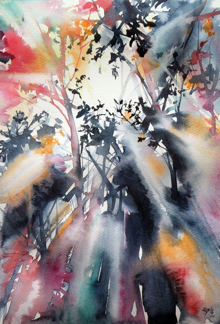 Artfinder Autumn By Kovacs Anna Brigitta Original Watercolour