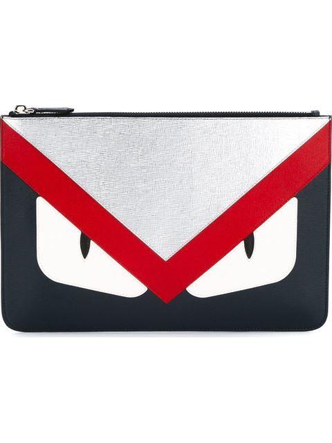 FENDI Bag Bugs Clutch.  fendi  bags  leather  clutch  hand bags ... 23f9bdbd4433a