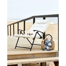 Enjoyable Wilko Garden Reclining Padded Chair Metal Garden Outside Ibusinesslaw Wood Chair Design Ideas Ibusinesslaworg