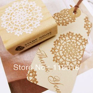 Min Order is $5,(2 styles ) DIY Scrapbooking Vintage Wood Stamps Lace Stamp Decoration Stamp Sealing Stamp Free Shipping