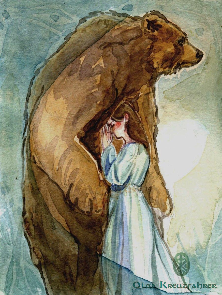 Картинки медведь и девочка