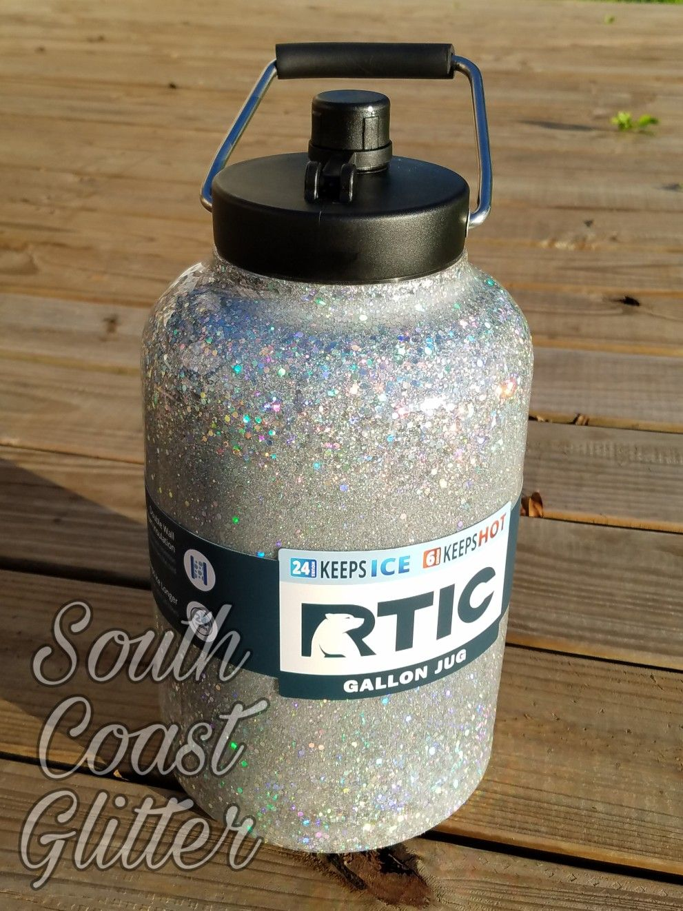 Rtic Glitter Gallon Jug Glitter Water Bottles Glitter Bottle Diy Water Bottle