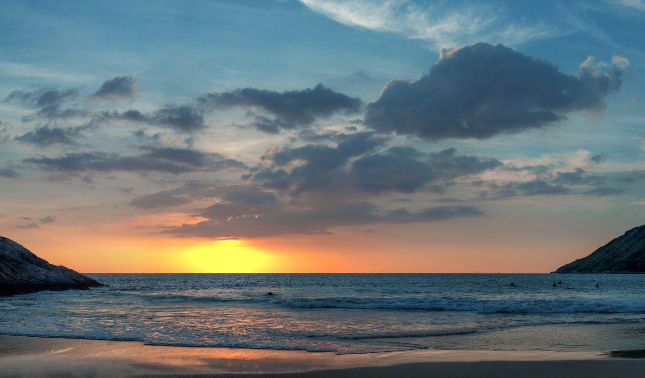 A Sunset Panorama. Nai Harn Beach 17.11.16