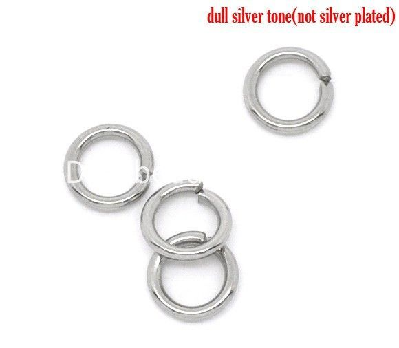 Hot sell 2500pcs 3-9mm Silver Open Split Jump Rings Beads Jewelry Findings