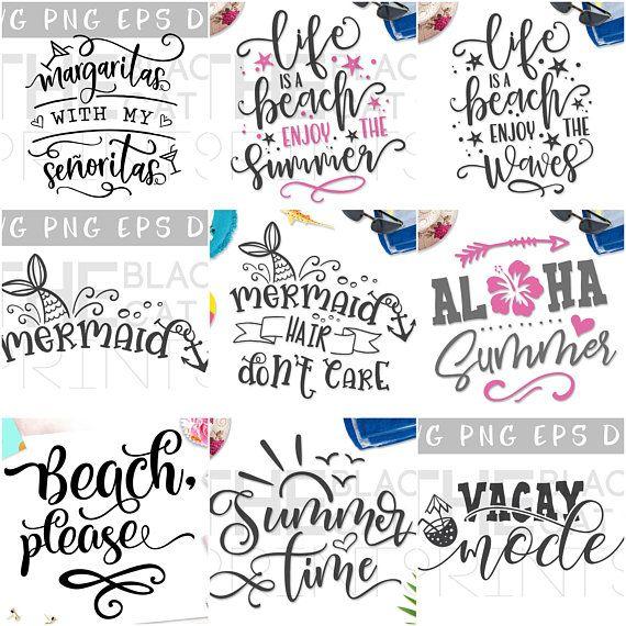 f119ea11e Summer SVG bundle Sale SVG files set Cricut svg Iron on Beach svg Bundle  files for cut Design quote