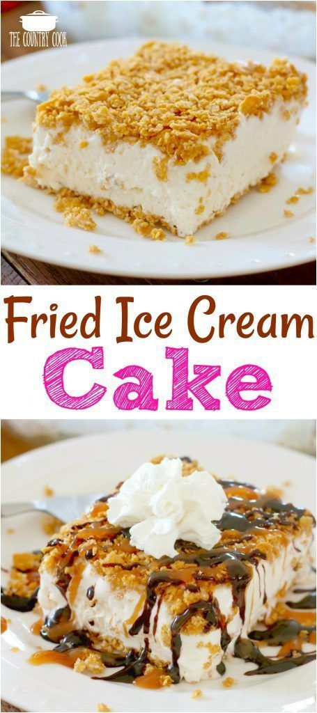 Fried Ice Cream Cake recipe from The Country Cook Ice Cream Cake recipe from The Country Cook