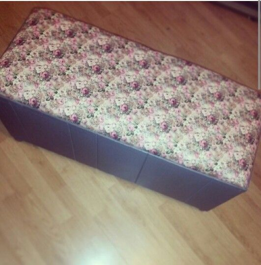 Up cycled ottoman