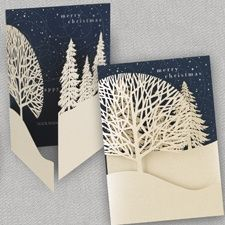 Christmas Treeline Holiday Card