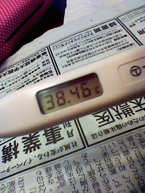 『38.46℃』  熱はあきません、しんどかったGW。 Photo by 湯川
