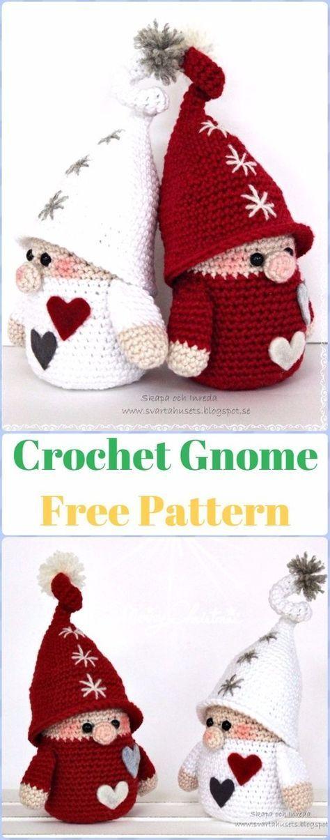 Crochet Gnome Free Pattern - migurumi Crochet Christmas Softies Toys ...