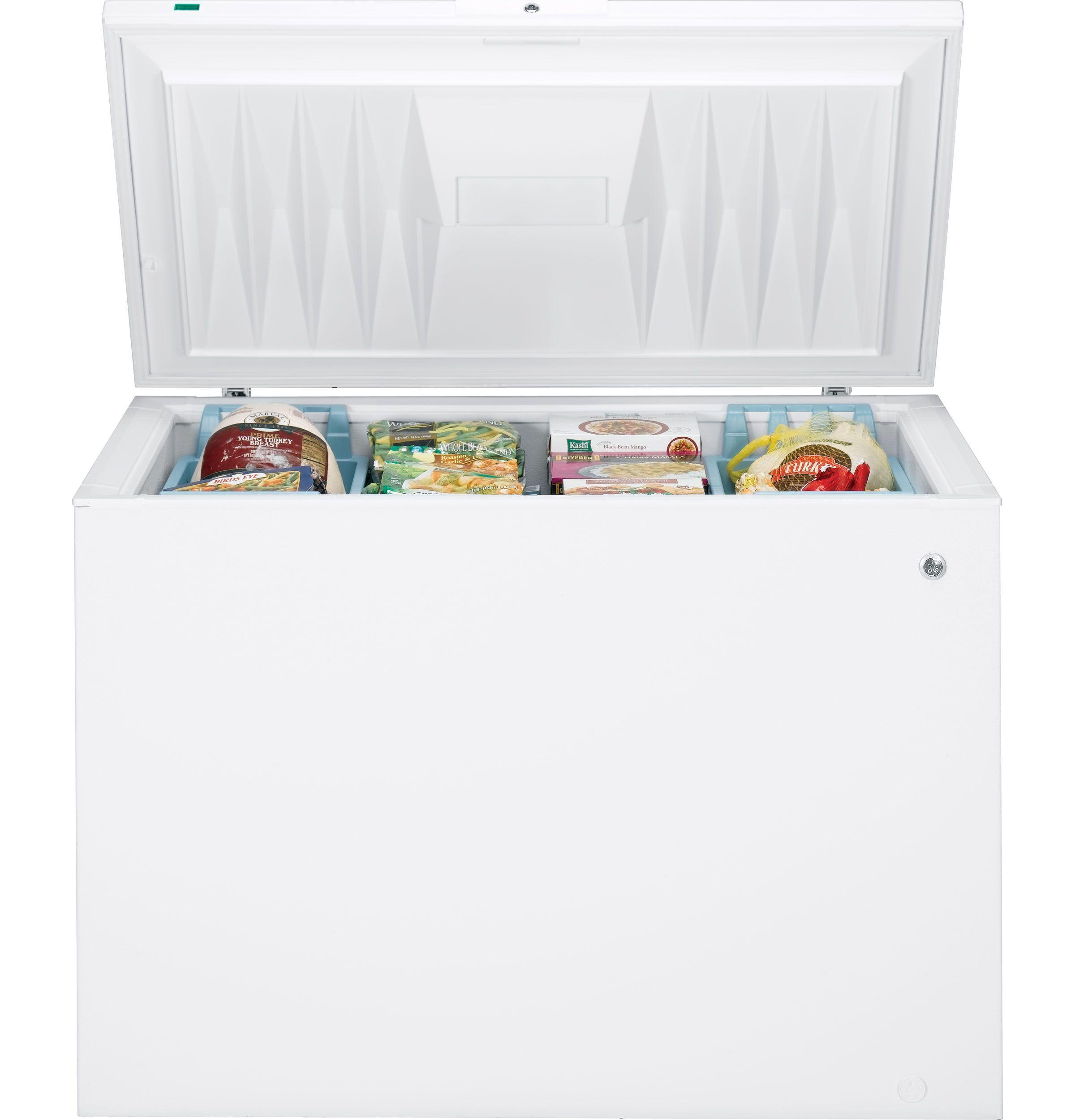 Ge 14 9 Cu Ft Manual Defrost Chest Freezer Fcm15suww Chest Freezer Storage White Chests