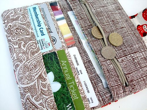 Fold over wallet with link to free tutorial. | Sew Wallets, Coin ...