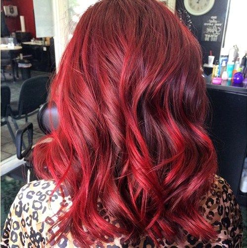 Coloration cheveux rouge vin