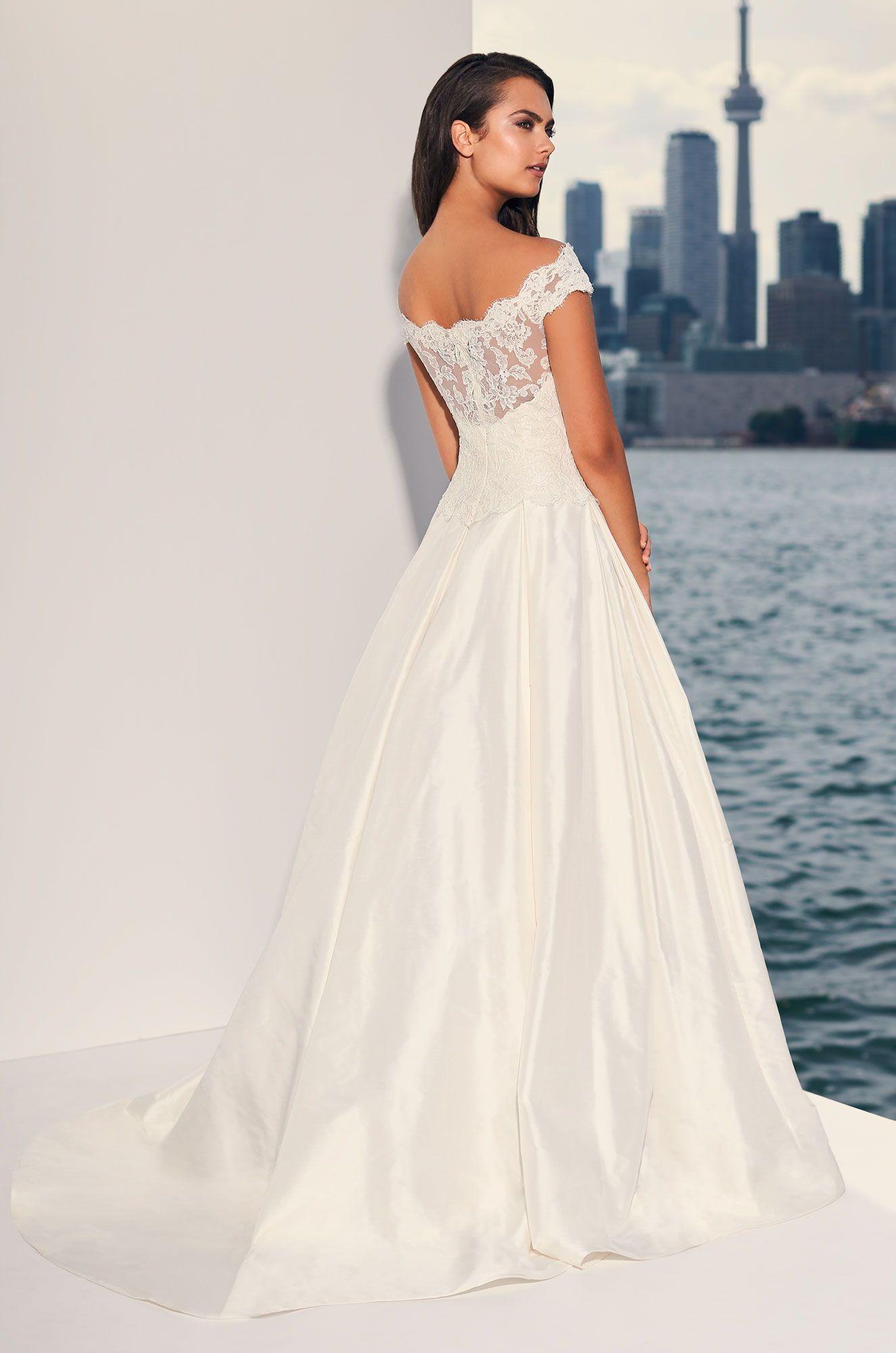 Dropped Waist Silk Wedding Dress Style 4842 In 2020 Wedding