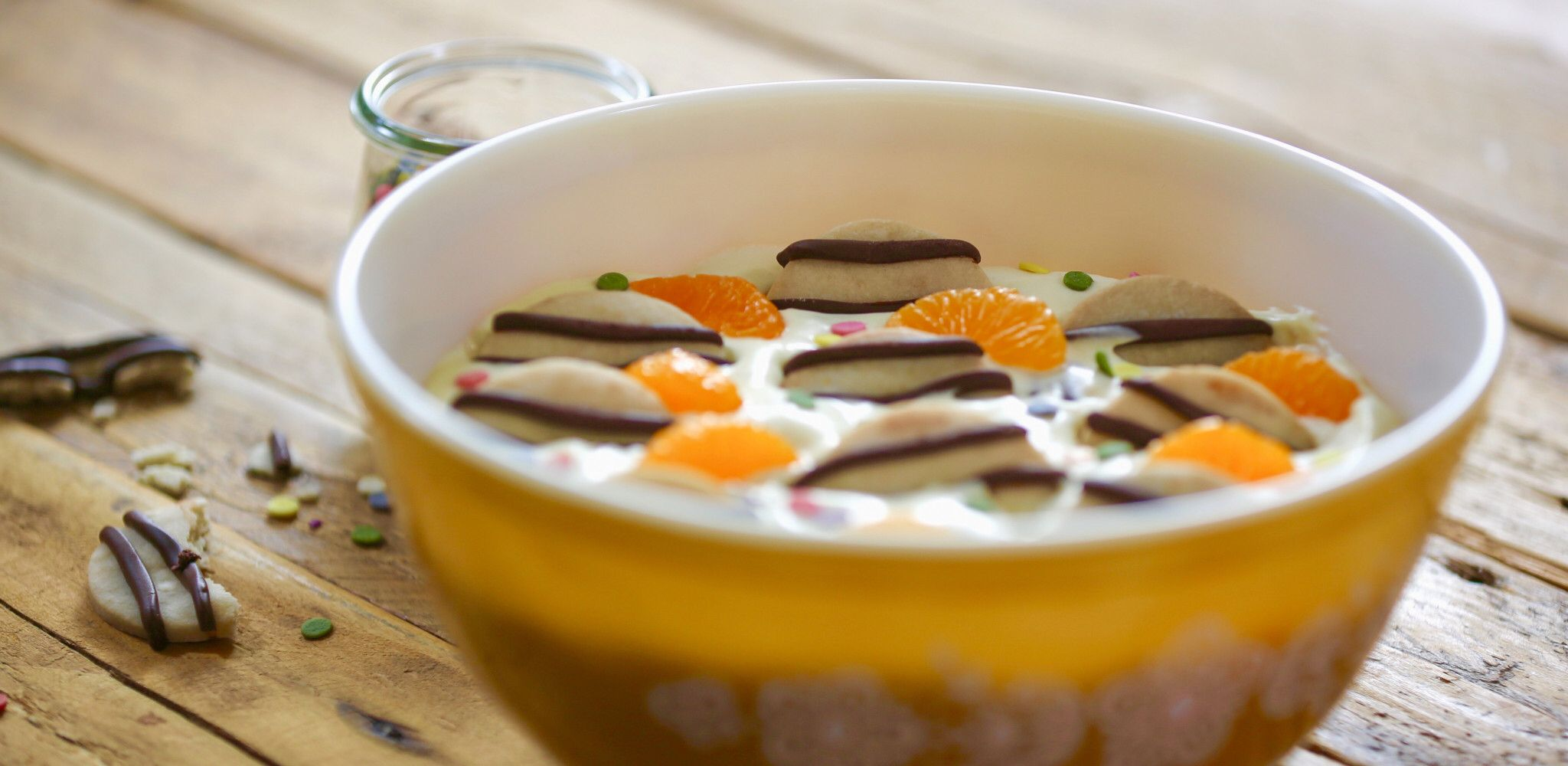 Sweet Cookie Salad with Homemade Cookies and Mandarins #cookiesalad