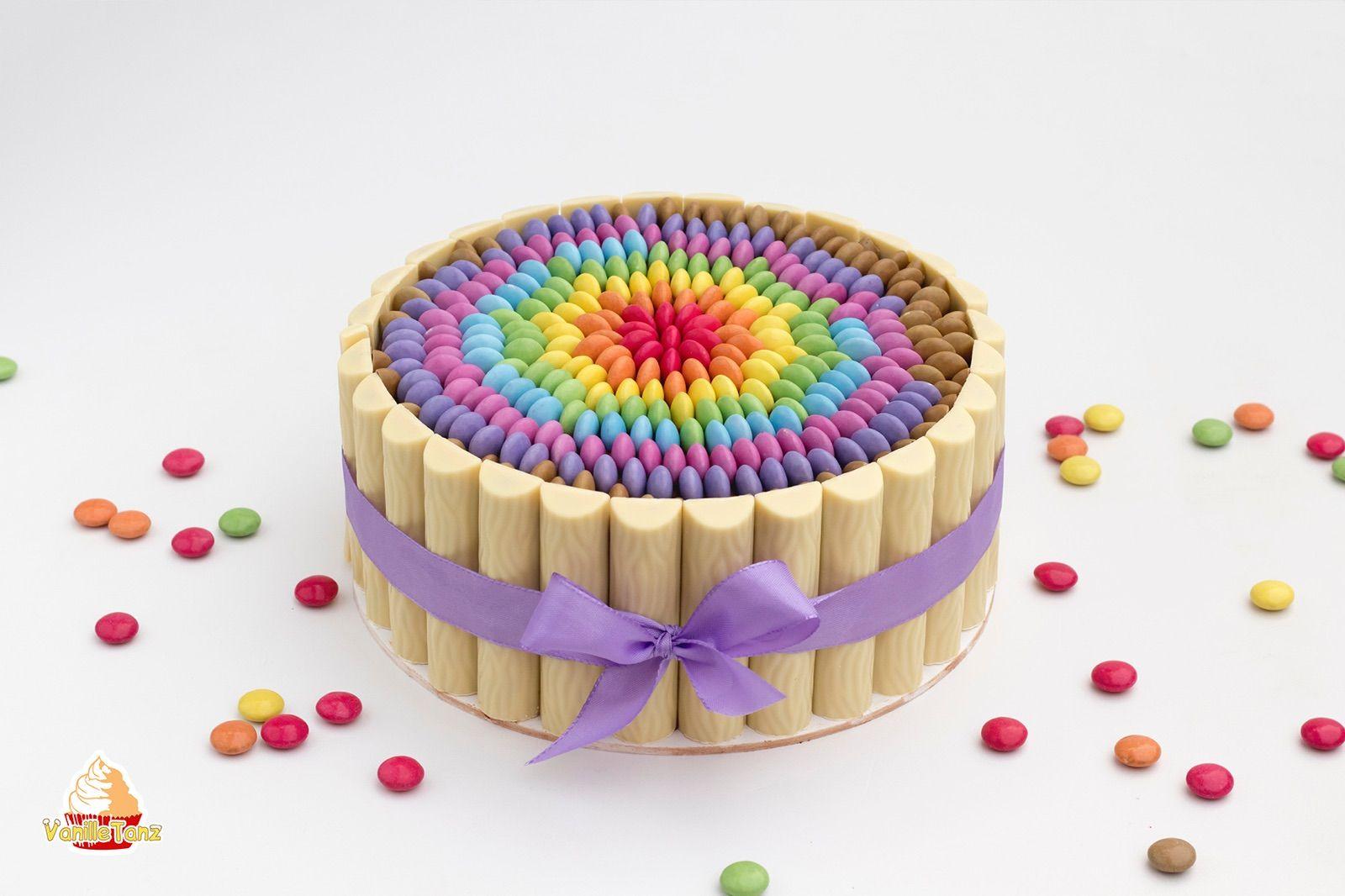 Smarties Regenbogen Torte , Rainbow Cake with Smarties ...