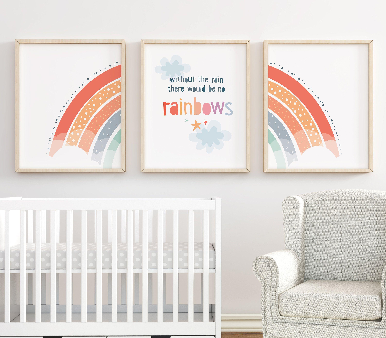 Rainbow Nursery Prints Set Of 3 Nursery Wall Decor Rainbow Wall Art Kids Decor New Baby Gift Colourful Nursery Decor Kids Art Prints Kids Art Prints Colorful Nursery Decor Rainbow Wall Art