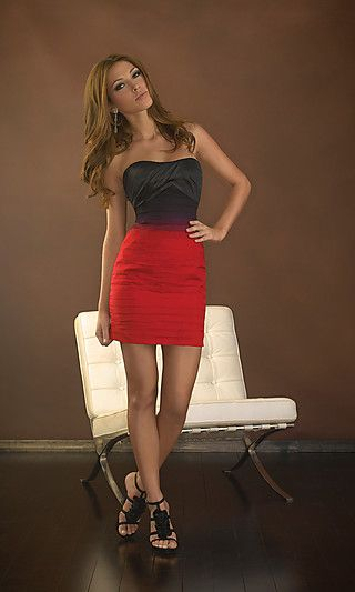 Strapless Short Tight Homecoming Dresses Really Red