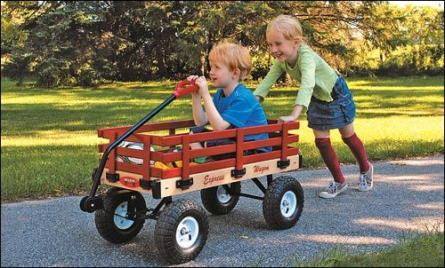 All Season Convertible Wagon Wooden Wagon Kids Playing Baby Toys