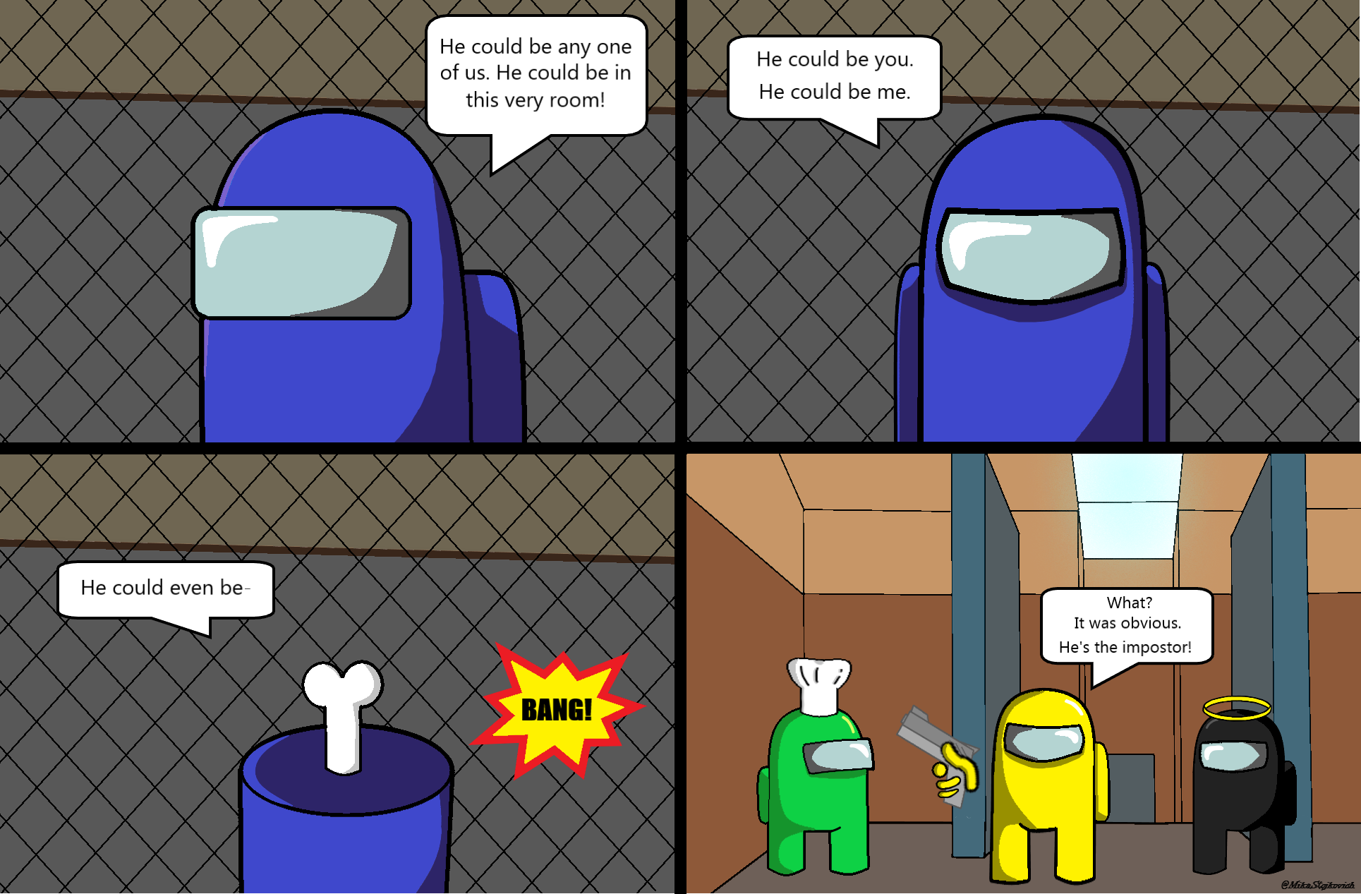 Meet The Impostor Full Comic Among Us Really Funny Memes Stupid Funny Memes Funny Memes