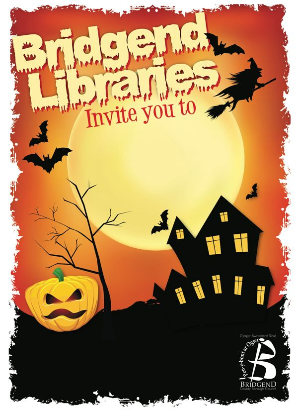 Halloween template designed for local council #bridgend #design - halloween template