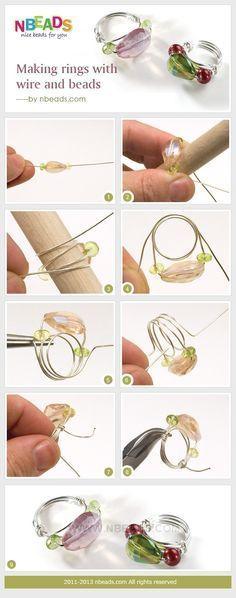 学习制作首饰 -  DIY串珠戒指教程