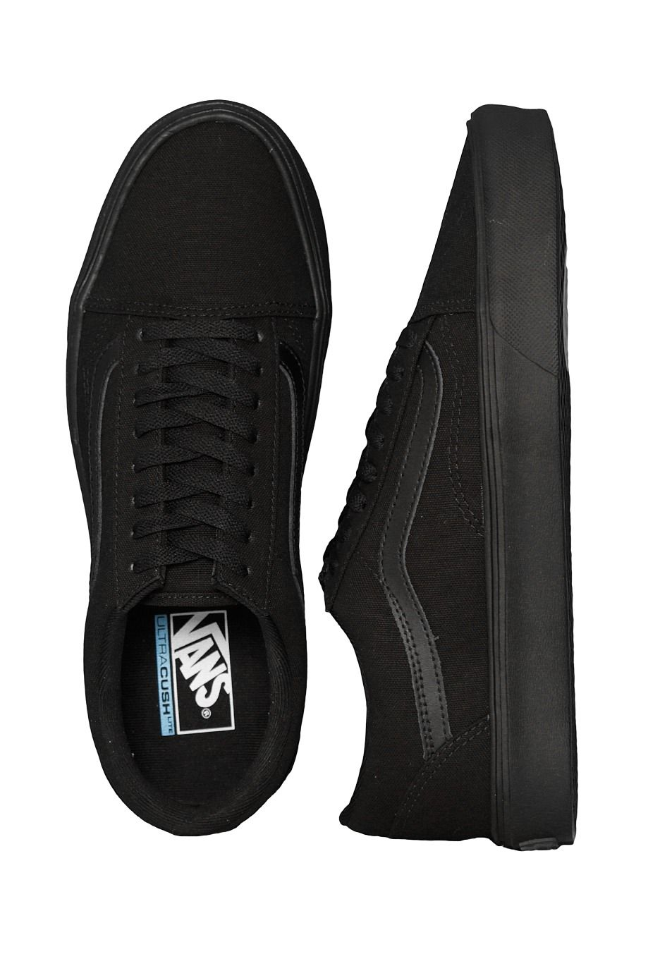 1a635f0b3802 Checkout this out  Vans - Old Skool Lite + Canvas Black Black - Girl Schuhe  for 79