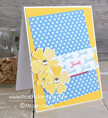 diy card making making your own thank you cards with stampin up stamps pinterest stamps cards and punch art - Make Your Own Thank You Cards