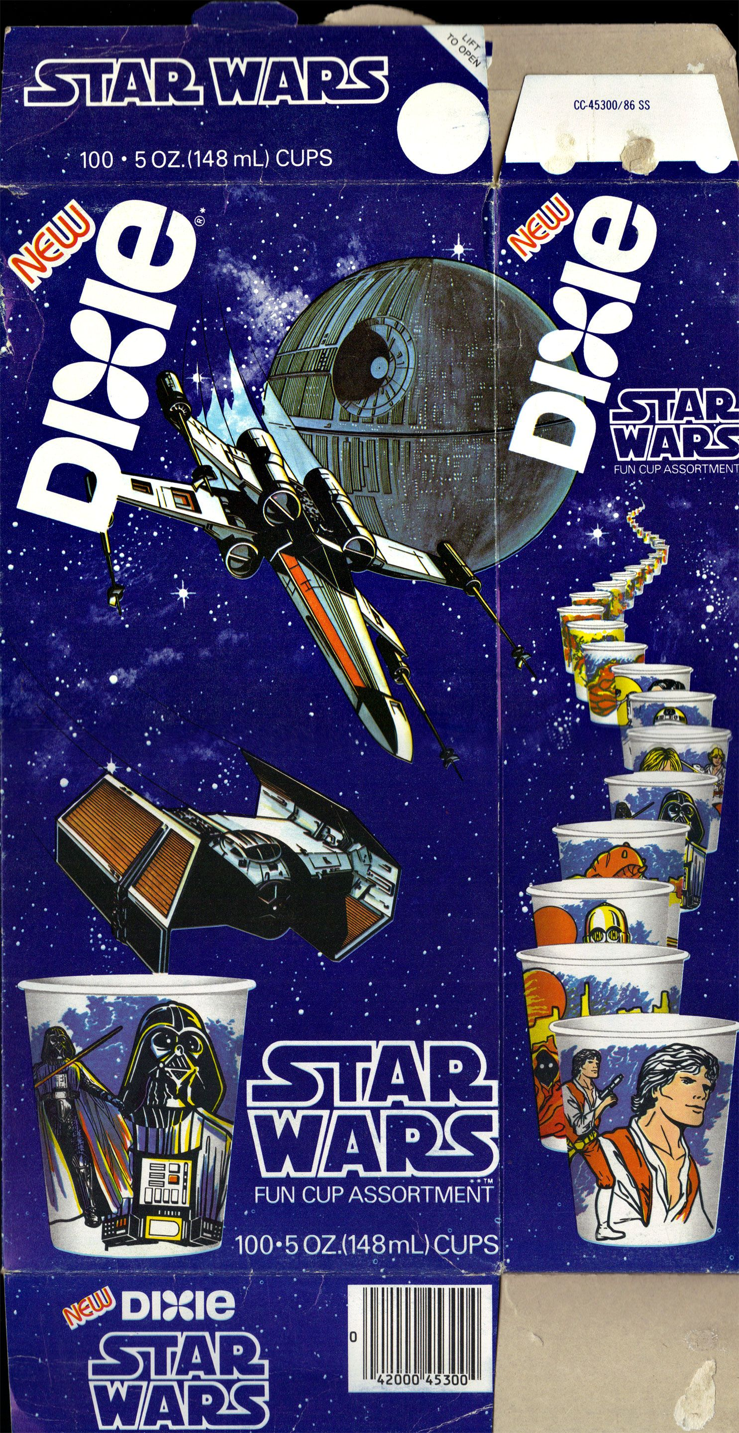 Dixie cups vintage star wars toys star wars collection
