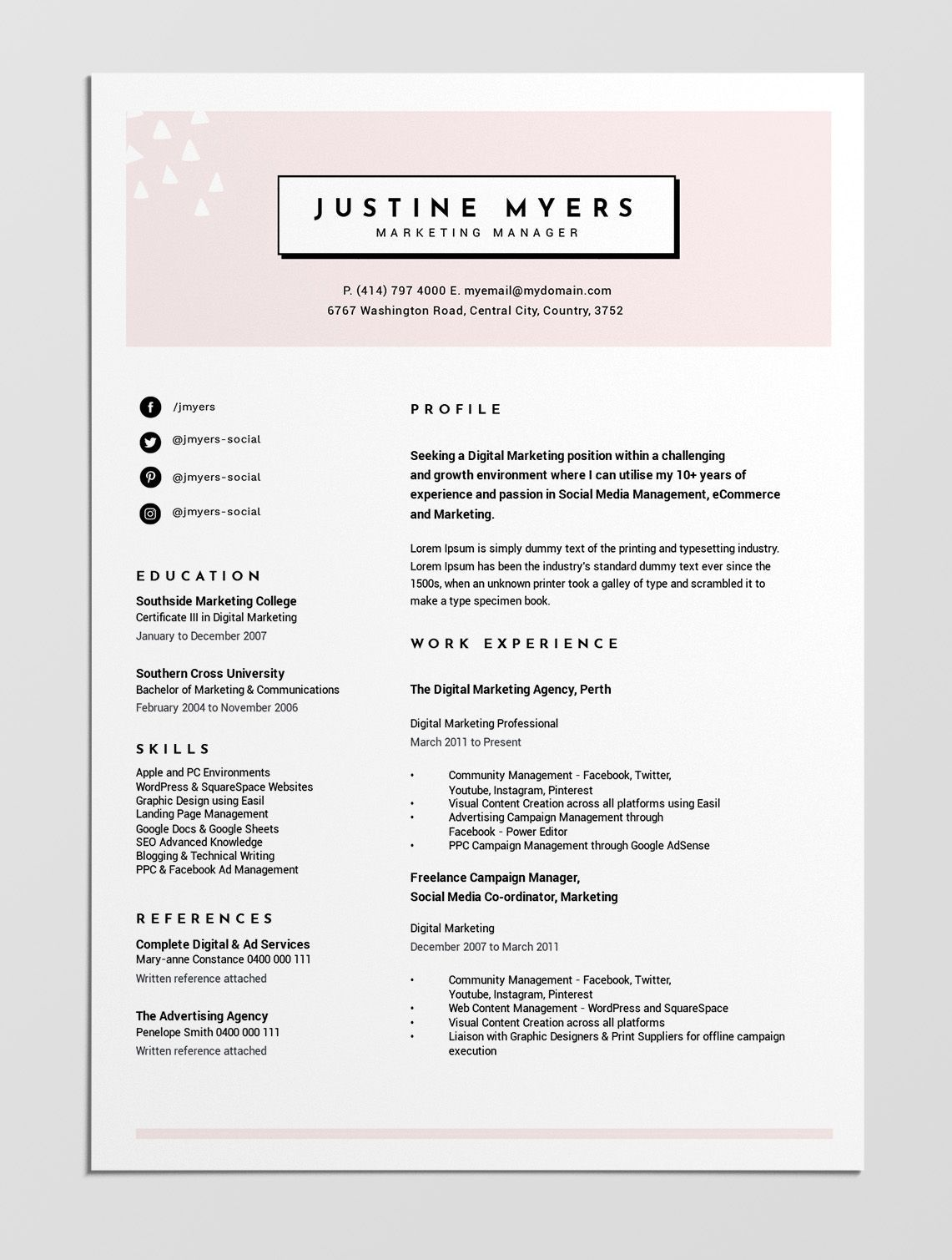 Simple Resume Template Download Simple resume template