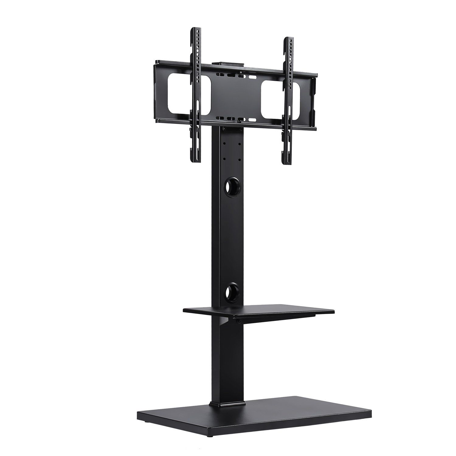 Rfiver Swivel Floor Tv Stand With Mount And Two Shelves For 32 37 42 47 50 55 60 65 Inches Plasma Lcd Led F Tv Stand With Mount Tv Floor Stand 65 Inch Tv Stand