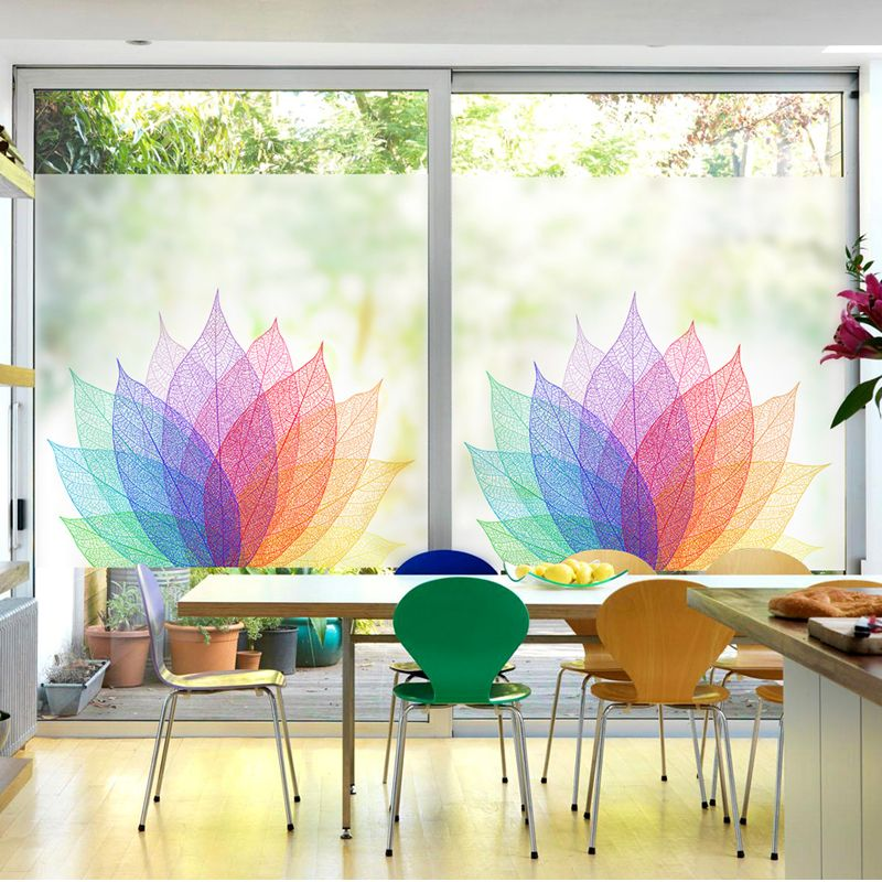 Free Custom Stained Static Cling Window Film Frosted Opaque Privacy Glass Sticker Home Decor Digital Print Blt11 Static Cling Types Of Insulation Privacy Glass