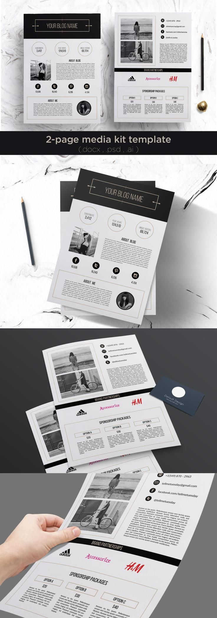 2 page media kit template download designs and template 2 page media kit template pronofoot35fo Image collections