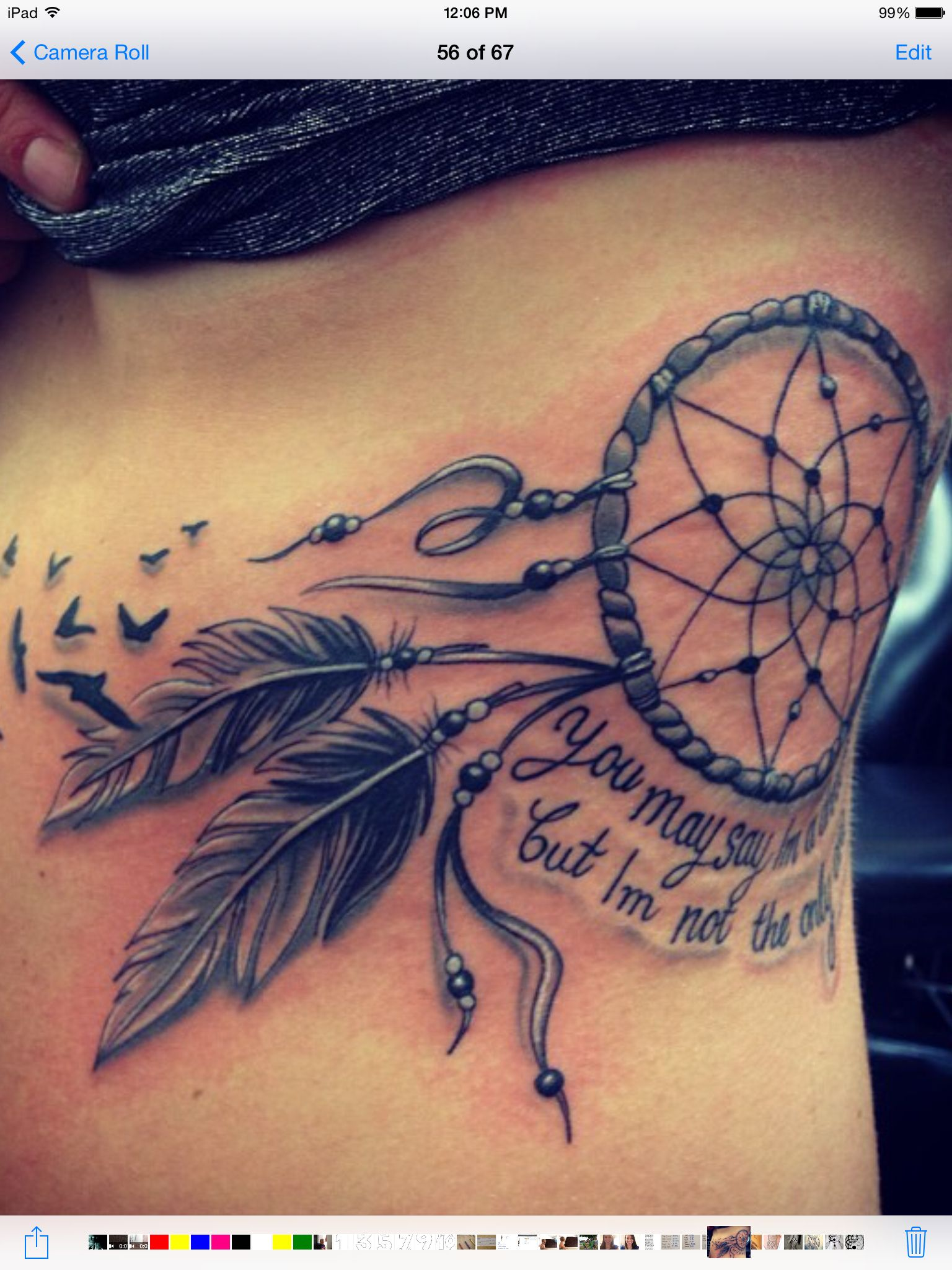 Dream Catcher Tattoo With Quote Tattoos Tattoos Dream Catcher