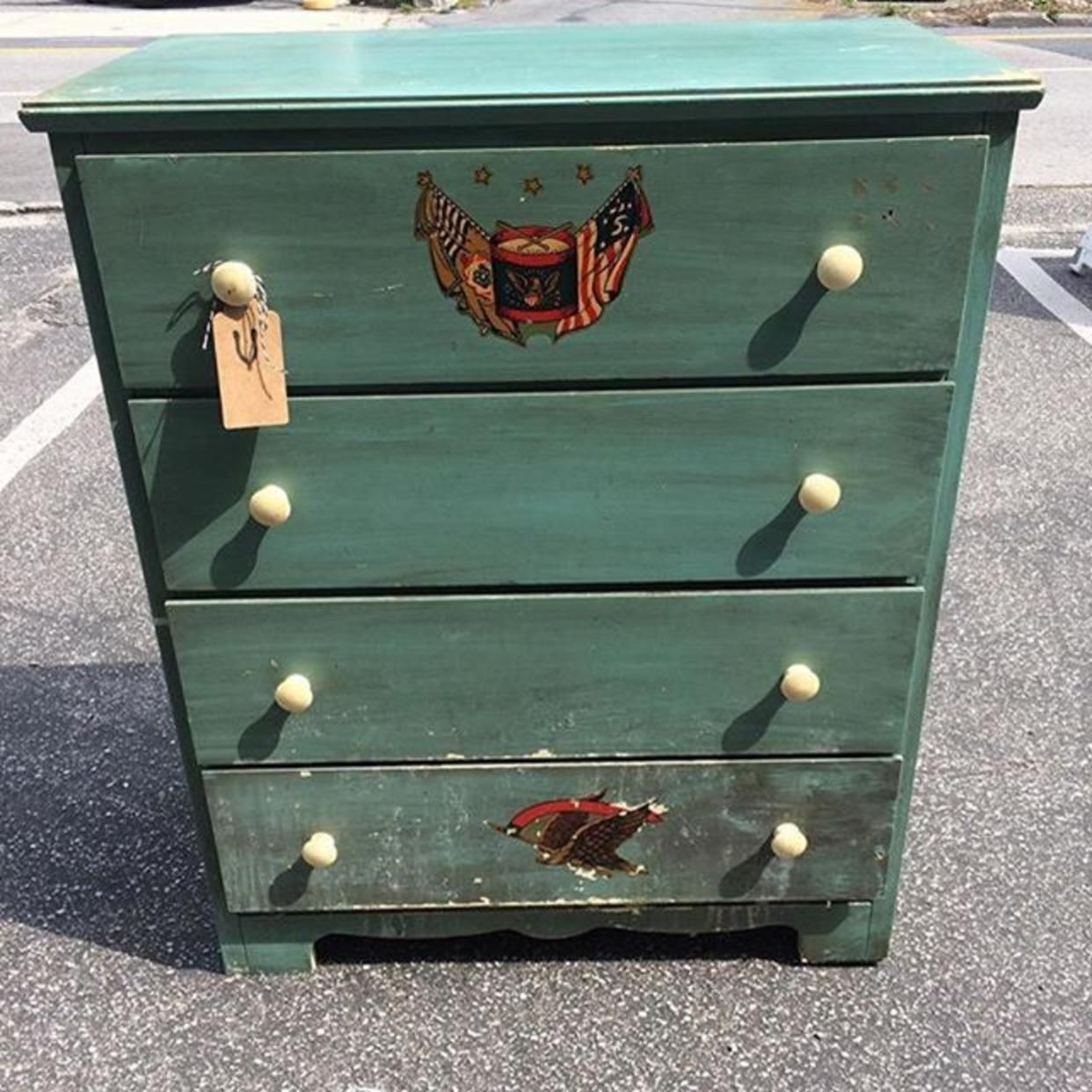 Painted Chest O Drawer Manufactured By Child Craft 150 From Wishbone Reserve Of Baltimore Md Attic Painted Chest Vintage Furniture Crafts For Kids
