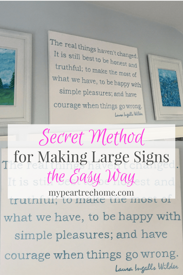 Make a large diy sign on canvas canvas signs large art and home