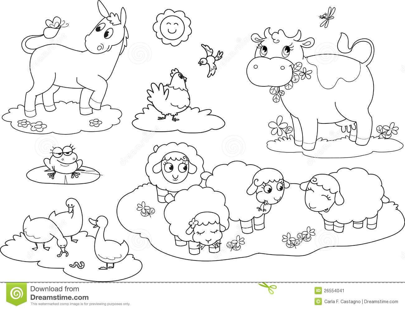 Farm Animals Pictures To Color Wallpapers Gallery Drawing